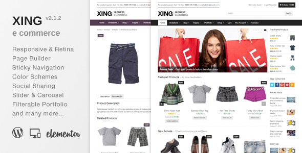 Xing - Business / ecommerce WordPress Theme 1