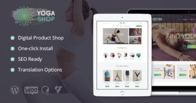 Yoga Shop - A Modern Sport Clothing & Equipment Store WordPress Theme 5