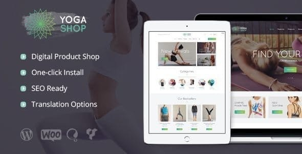 Yoga Shop - A Modern Sport Clothing & Equipment Store WordPress Theme 1