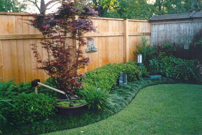 backyard oasis of tranquility backyard fence line on backyard fence landscaping id=51210
