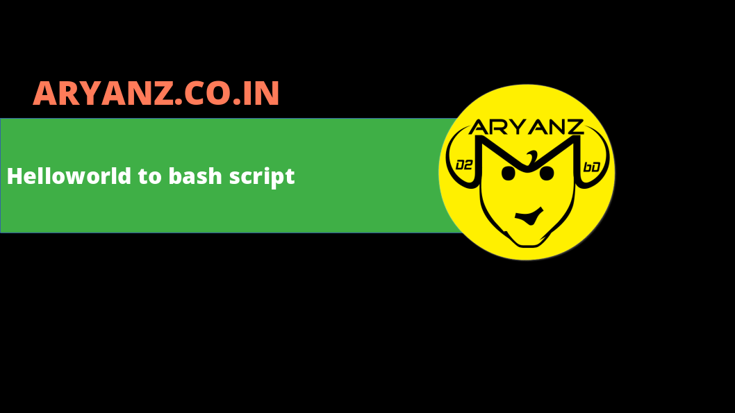 Learn to write your first shell script