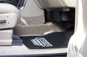 Honda Custom Logo Floor Mats in Car