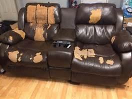 Peeling bonded leather furniture