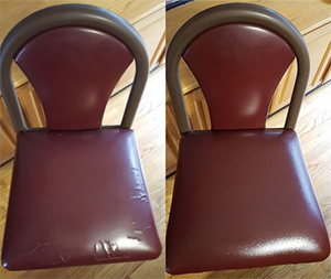 Before & After Leather Re-Upholstery