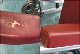 Restoring Interior - using Leather & Vinyl Repair & Restoration Services
