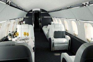 Interior of Versace Airbus A319