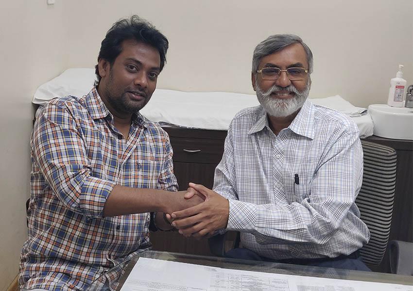 Madhusudhanan Menon, from Thane, with Dr Purvish Parikh madhu@awsindia.co