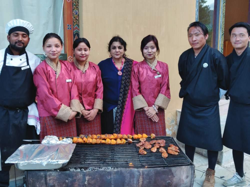 Staff of Udumwara Resort, Paro