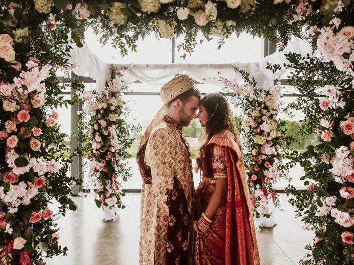 indian wedding flower arbor