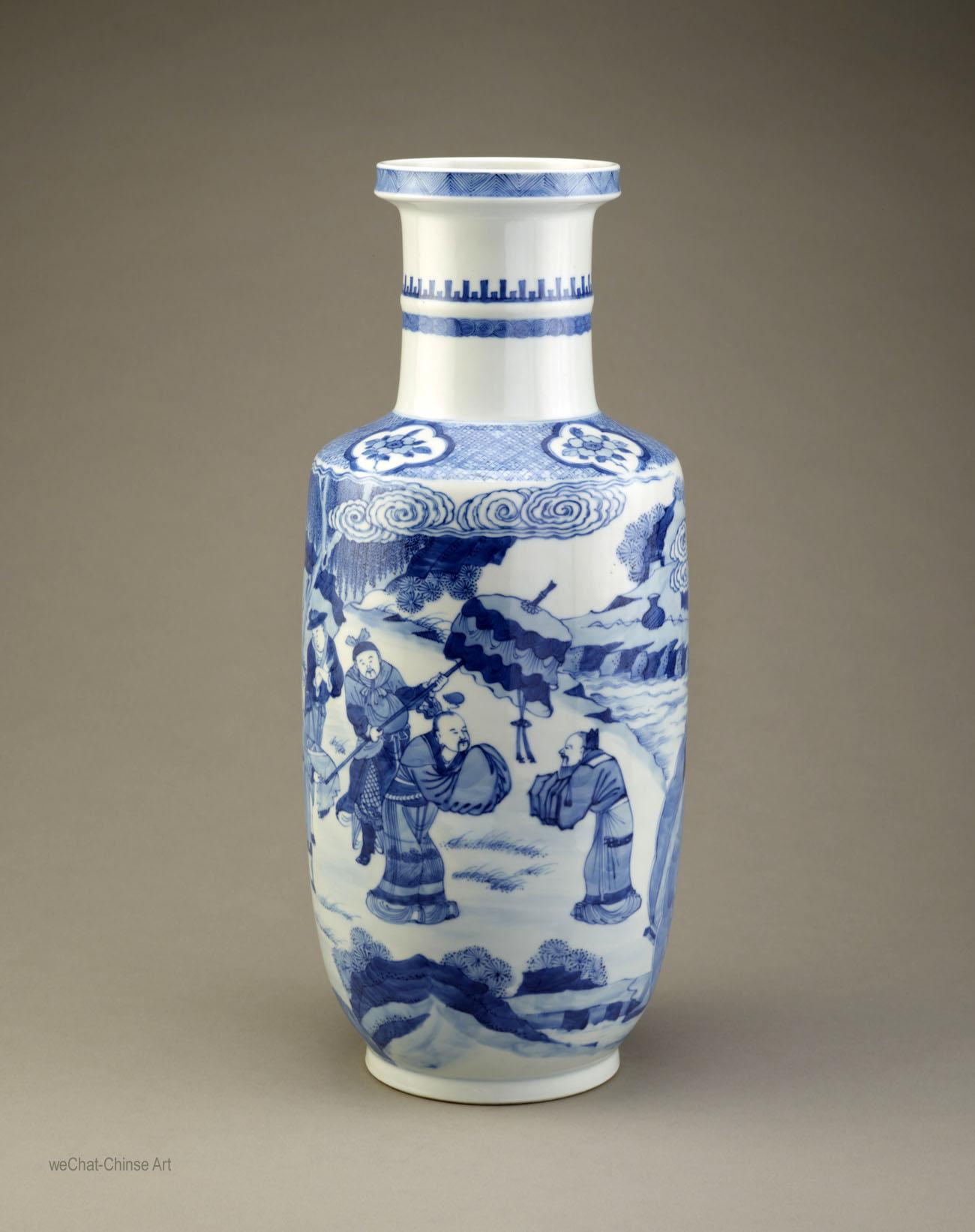 Chinese Ming Kangxi Blue Amp White Porcelain Ceramic Art