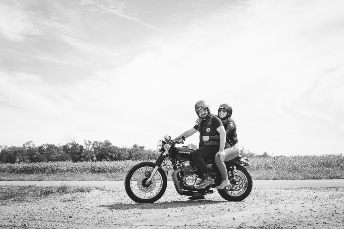 Indiana Motorcycle Engagement Photos