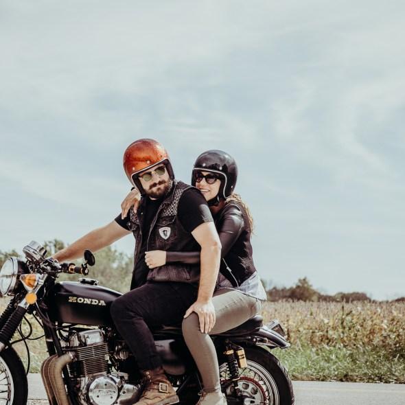 Indiana Motorcycle Engagement Photos