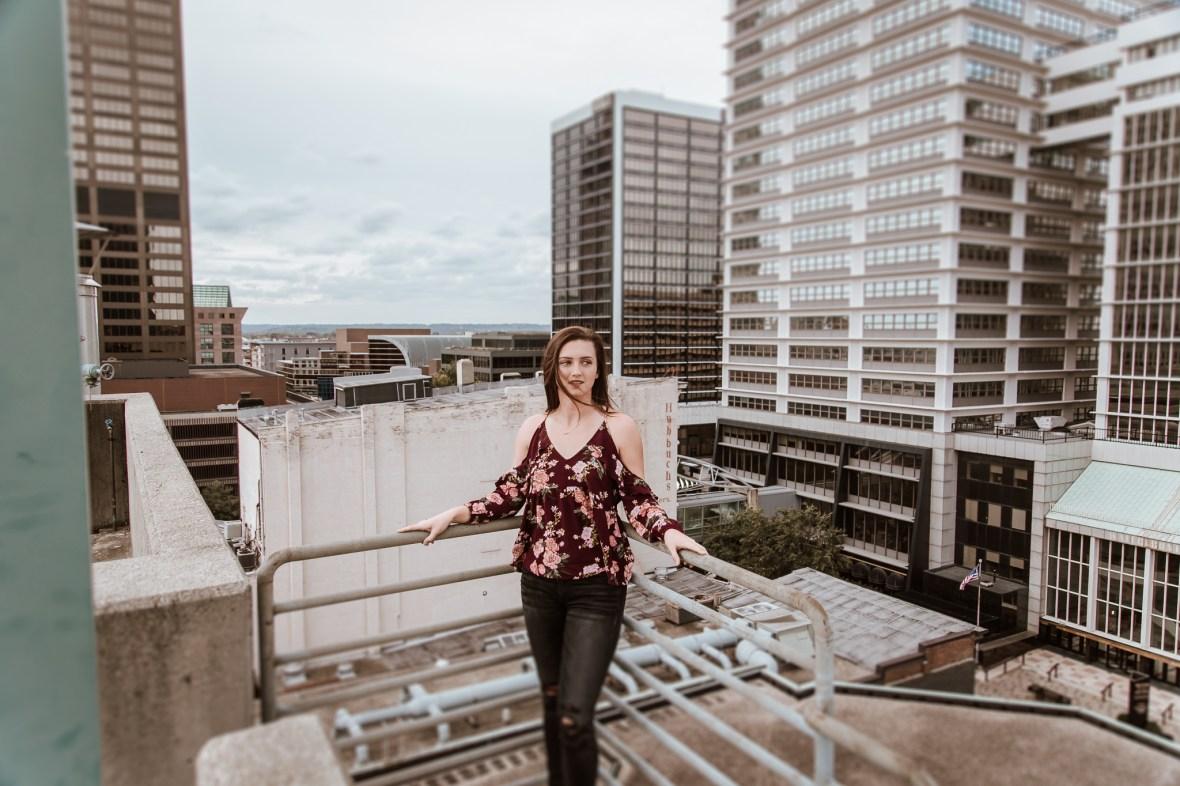 Senior Photos Downtown Louisville Kentucky