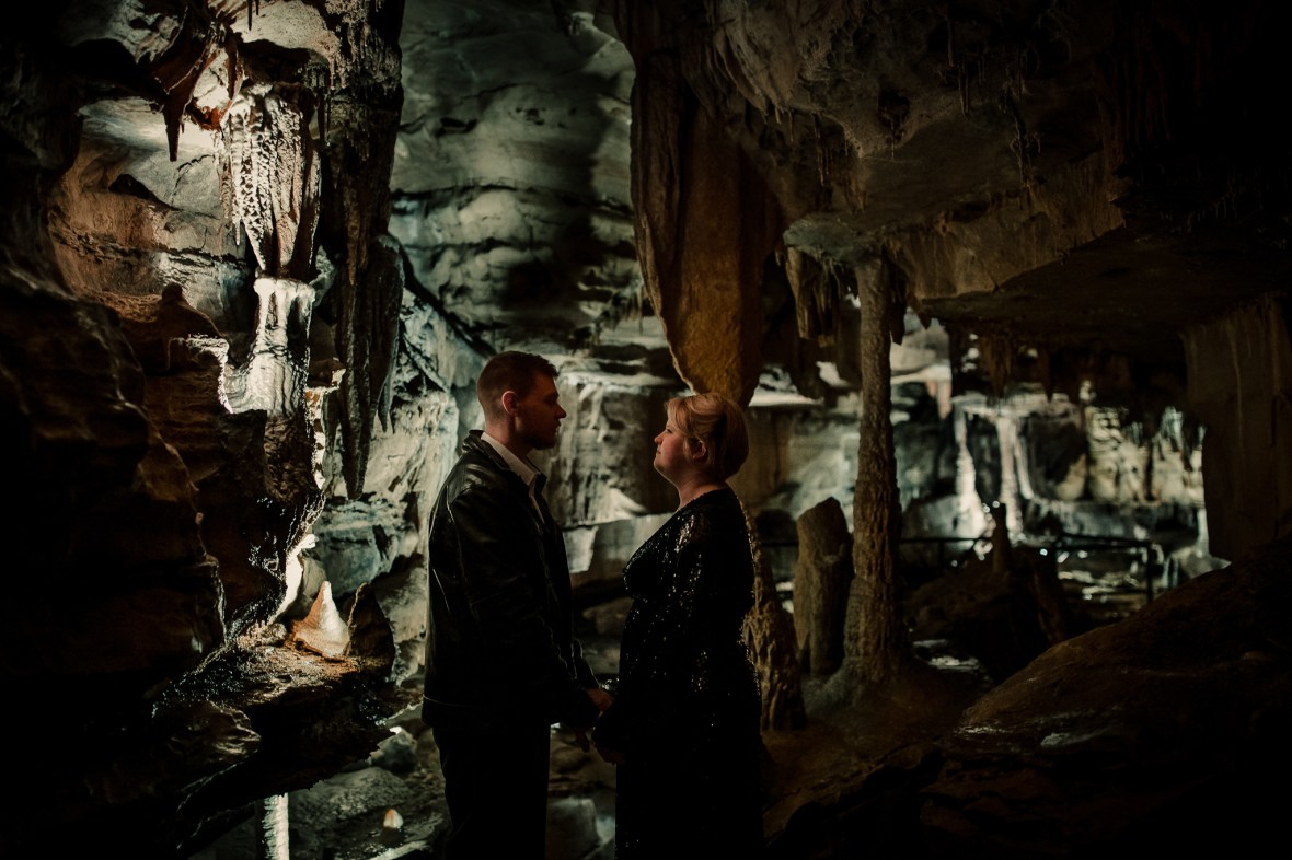Cave Engagement Session Indiana Squire Boone Caverns