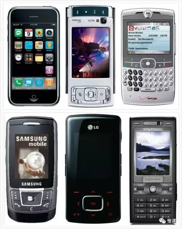 初代 iPhone 与同时代「智能手机」对比