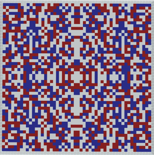 red white and blue border rotated 50