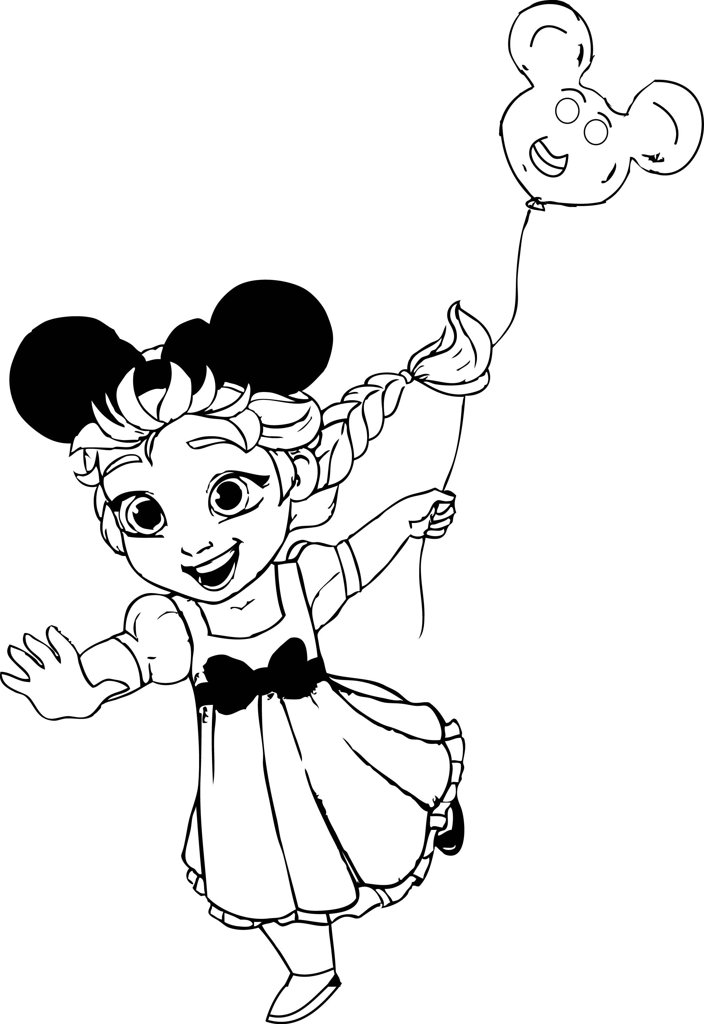 Elsa At Disneyland Coloring Page Wecoloringpage