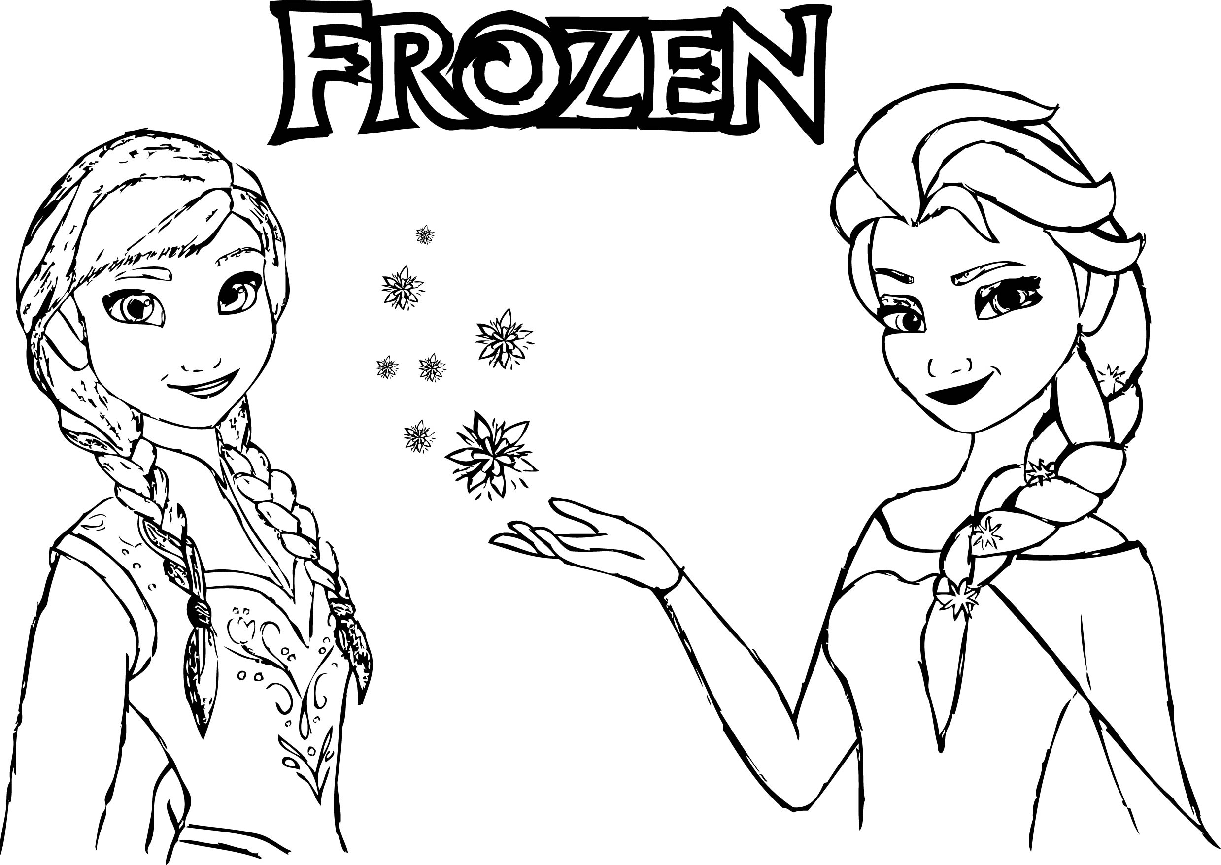 Frozen Anna Elsa Magic Coloring Wecoloringpage