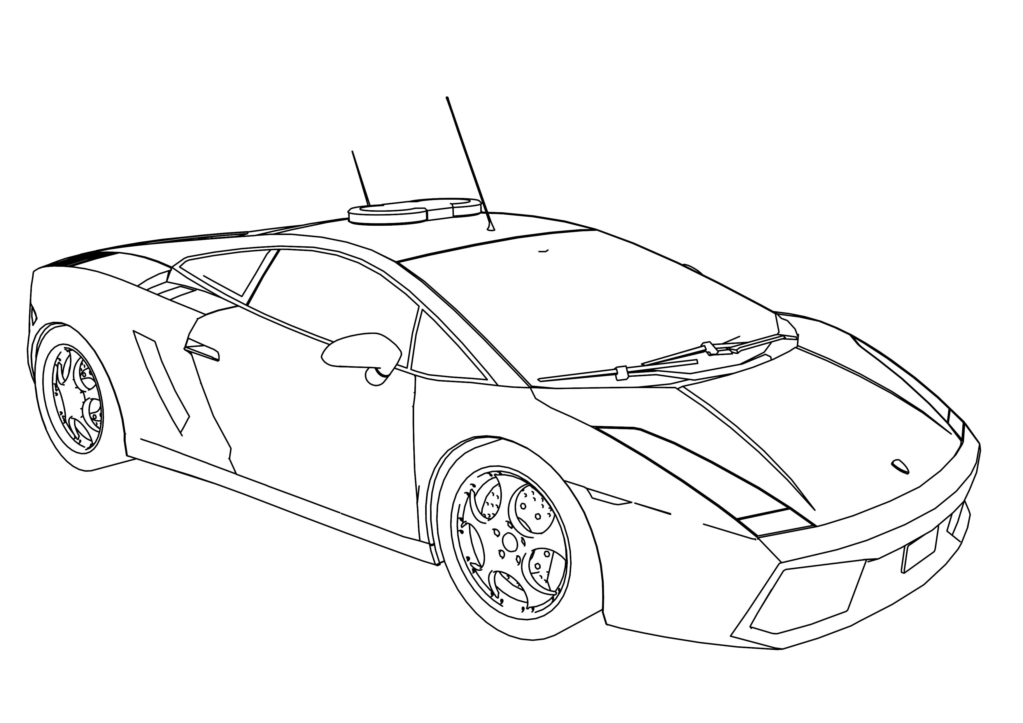 Police Car Coloring Pages Wecoloringpage