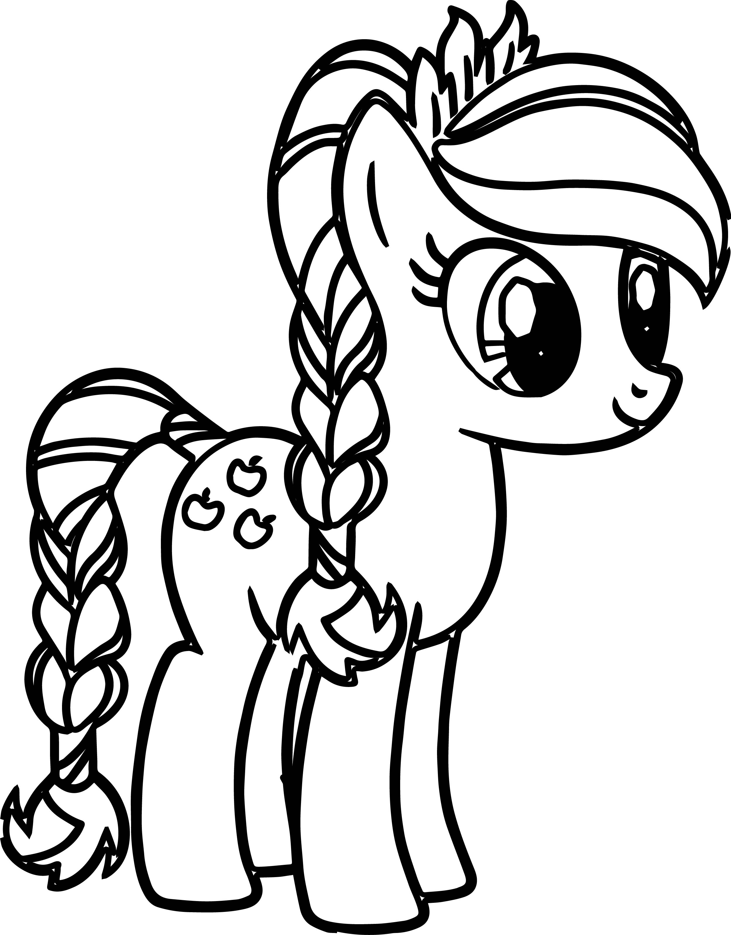 Pony Cartoon My Little Pony Coloring Pages Wecoloringpage