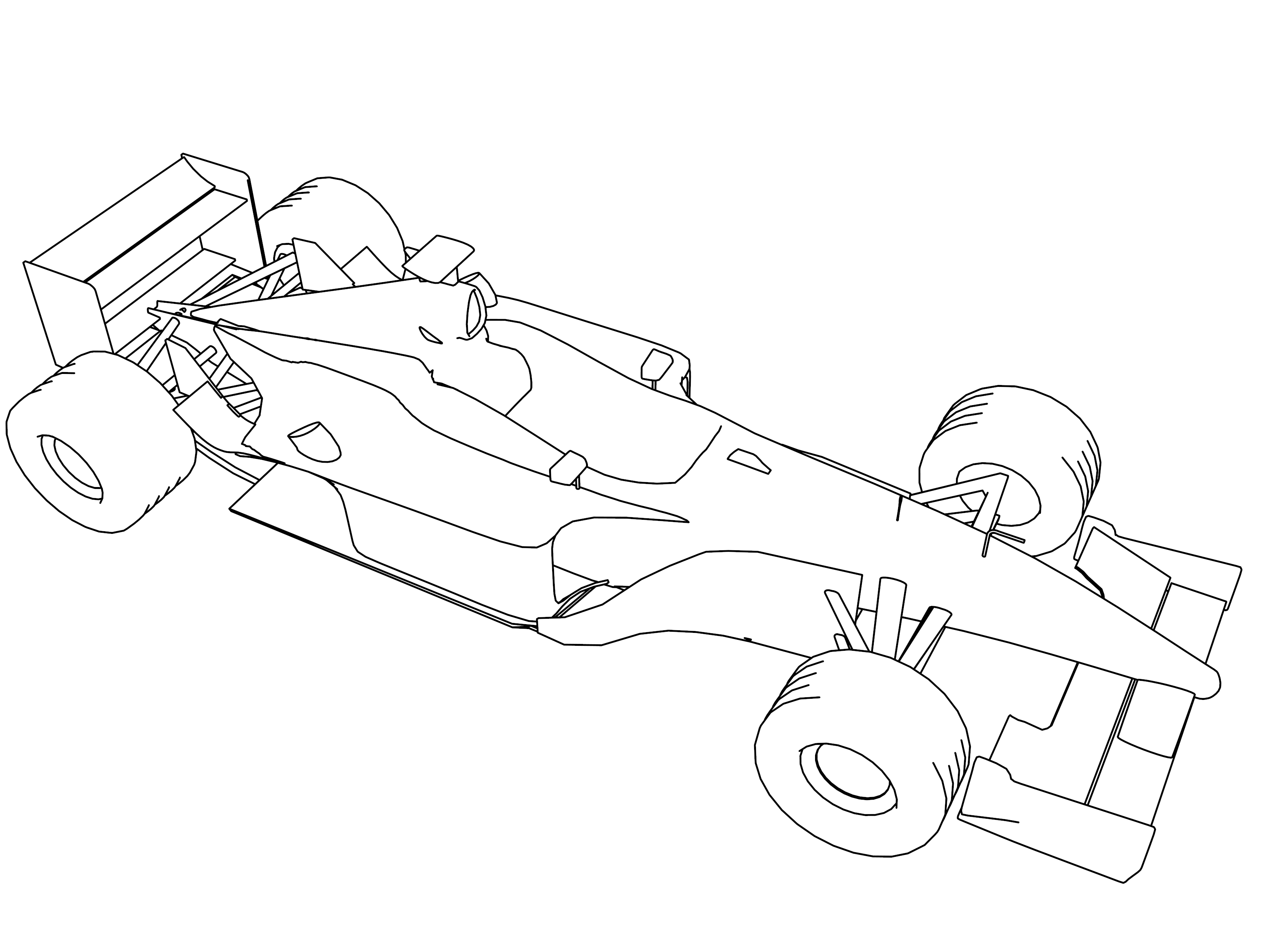 Formula One Car Coloring Pages