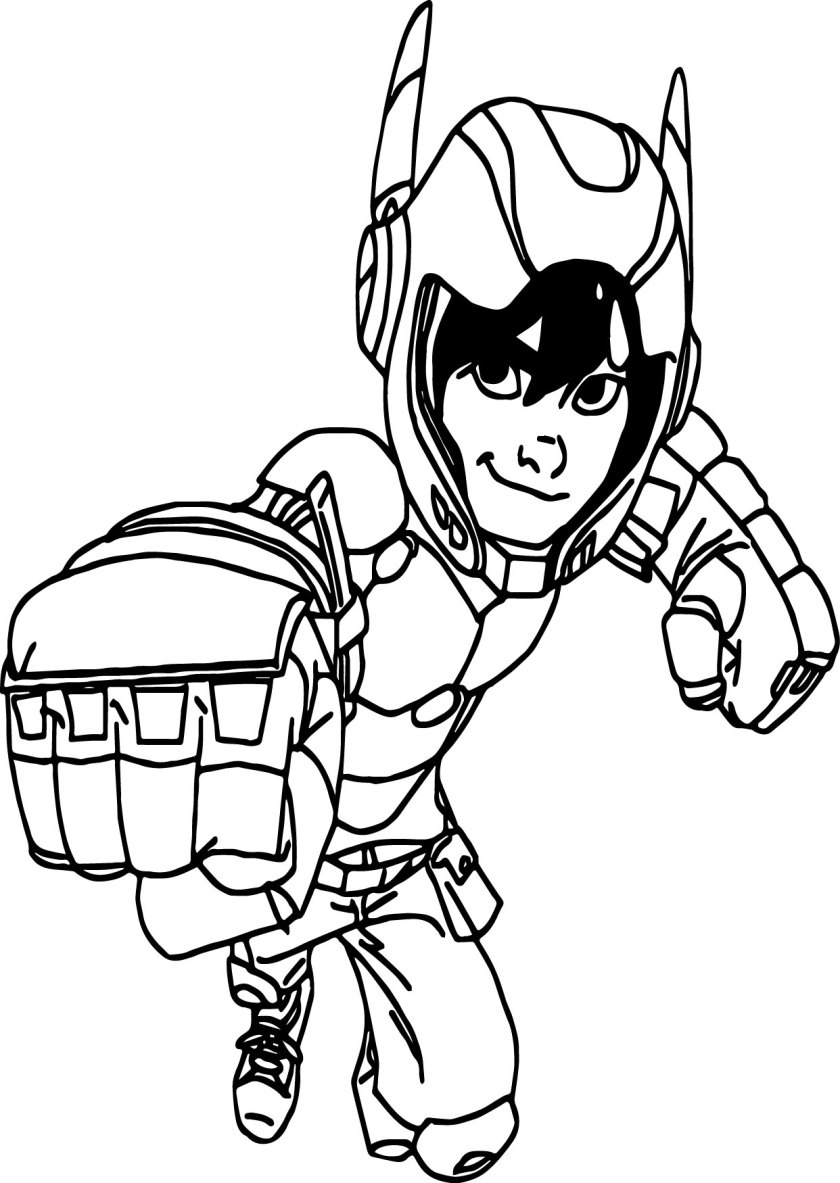 big hero 6 coloring pages  wecoloringpage