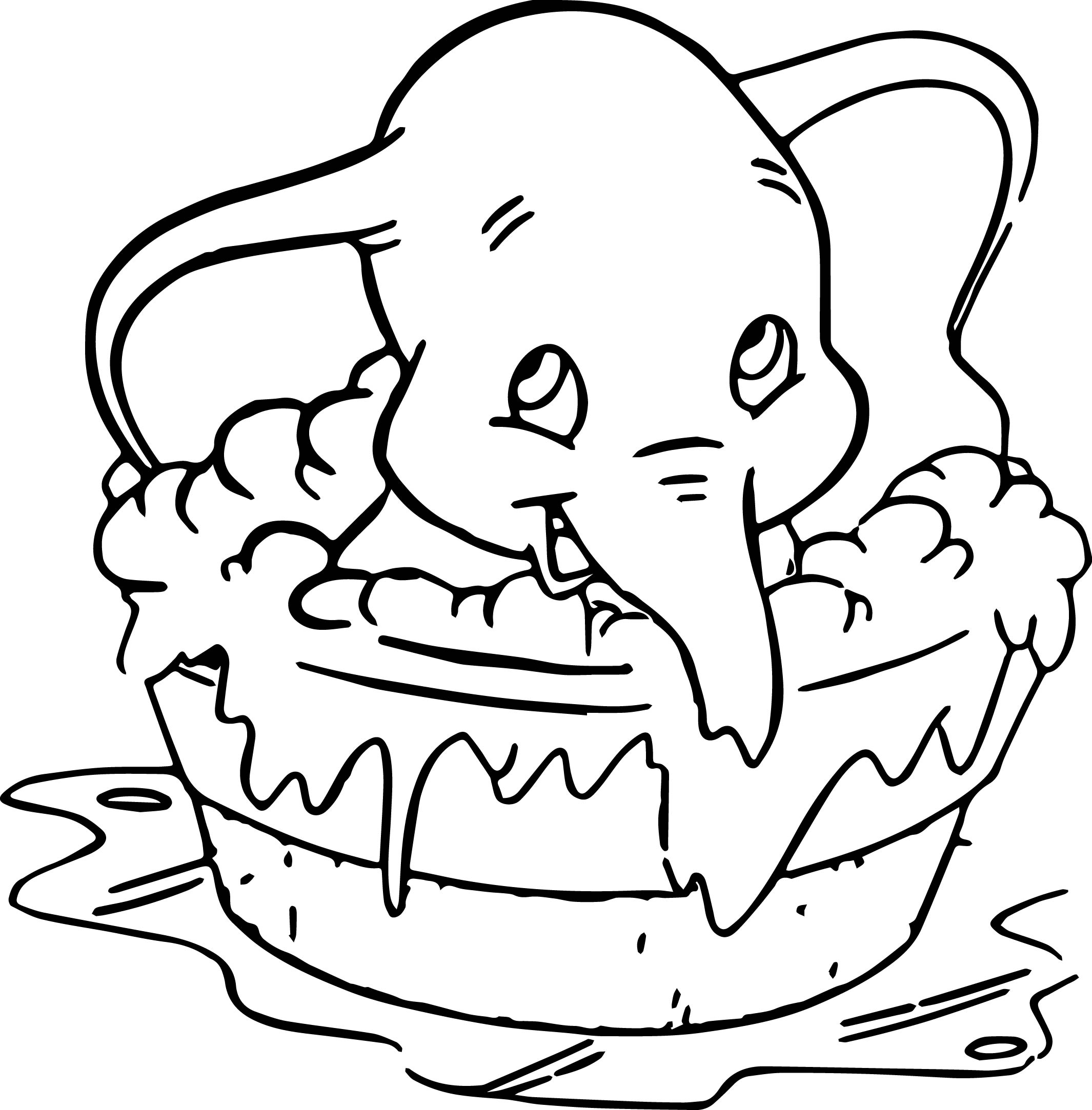Disney Dumbo Elephant Coloring Pages