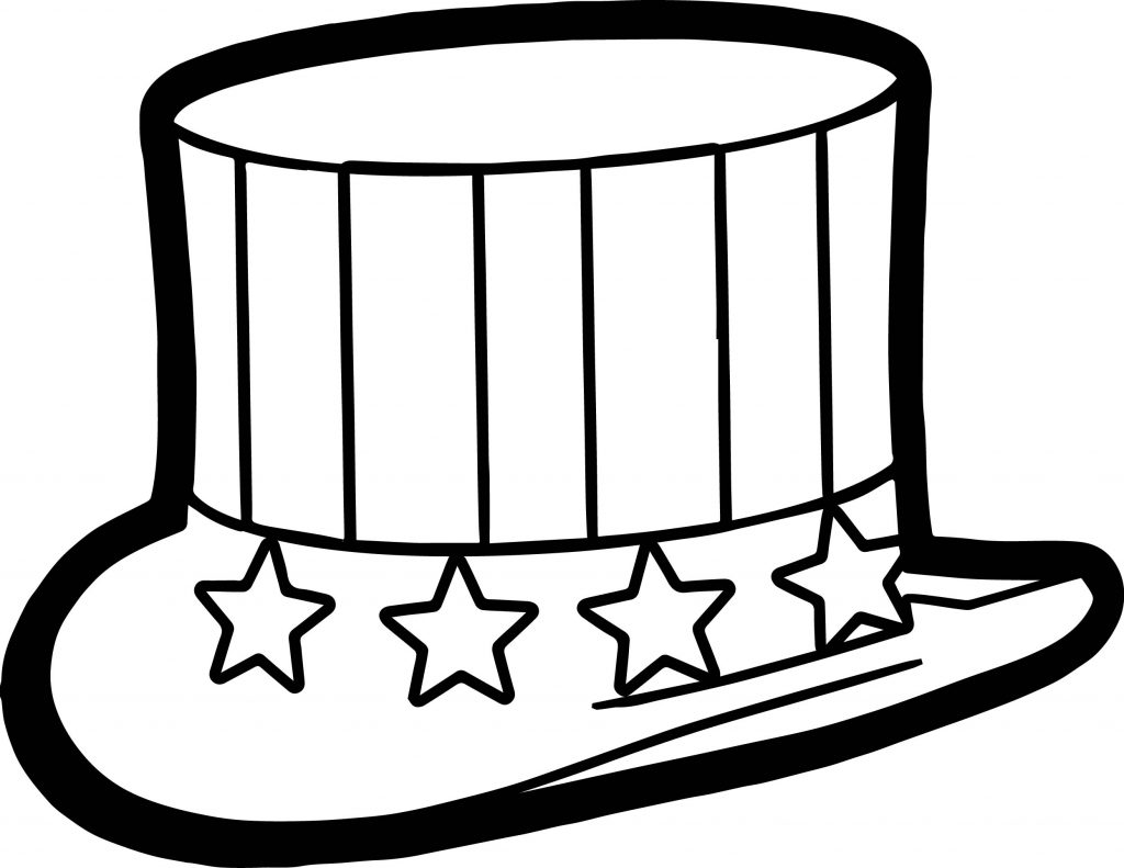 4th Of July Hat Coloring Page