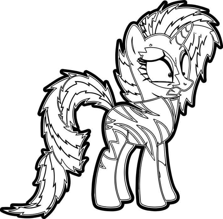 crazy my little pony coloring page | wecoloringpage