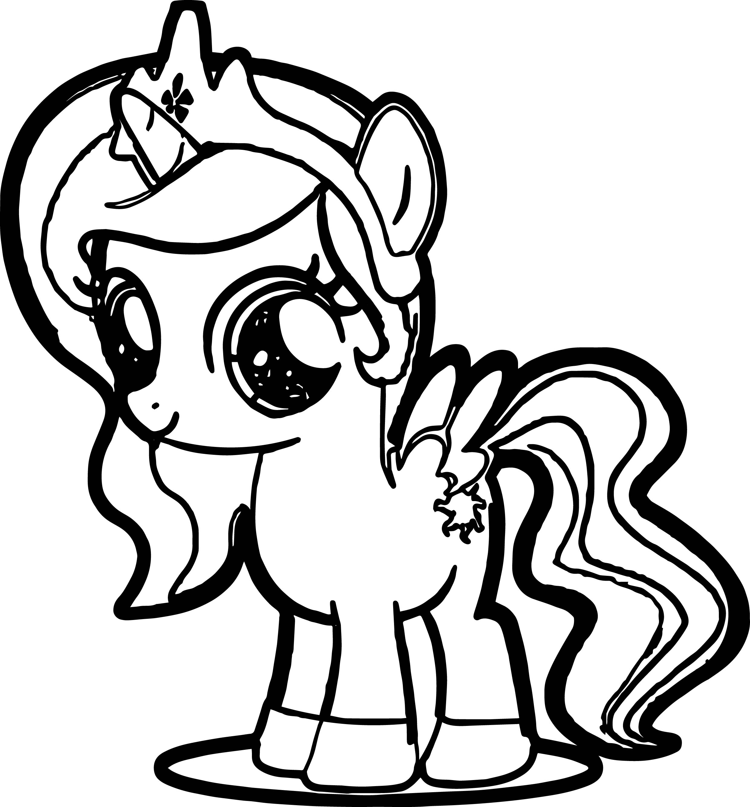 Cute Pony Coloring Page Wecoloringpage