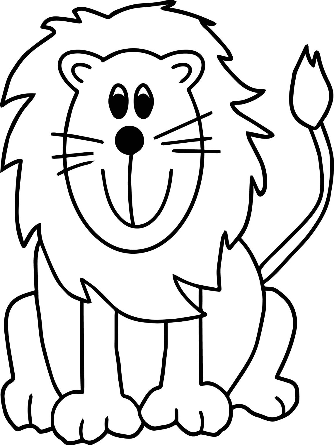 Lion Zoo Coloring Page | Wecoloringpage.com | printable coloring pages zoo animals