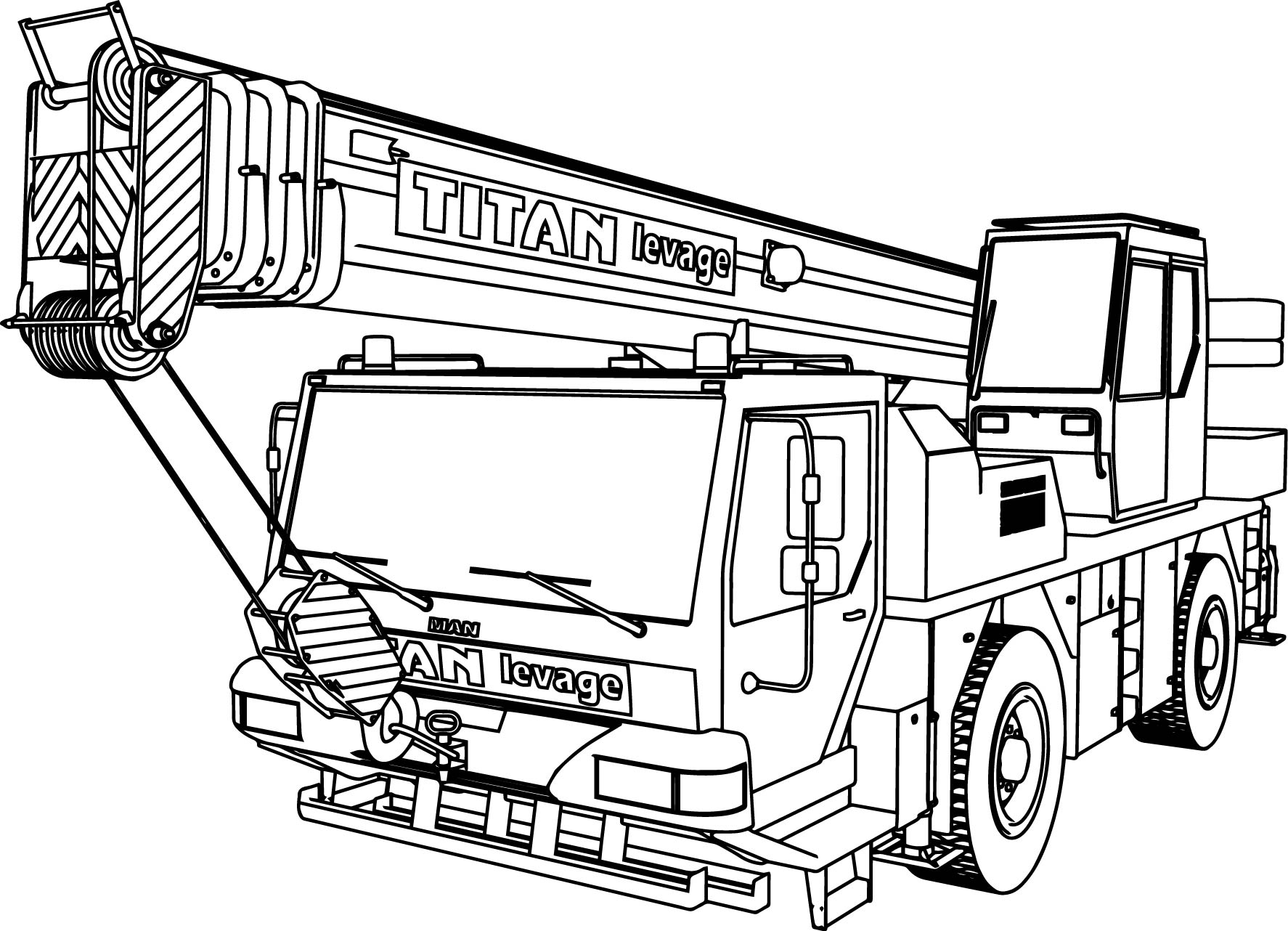 Man Titan Levage Ltm Pull Truck Coloring Page