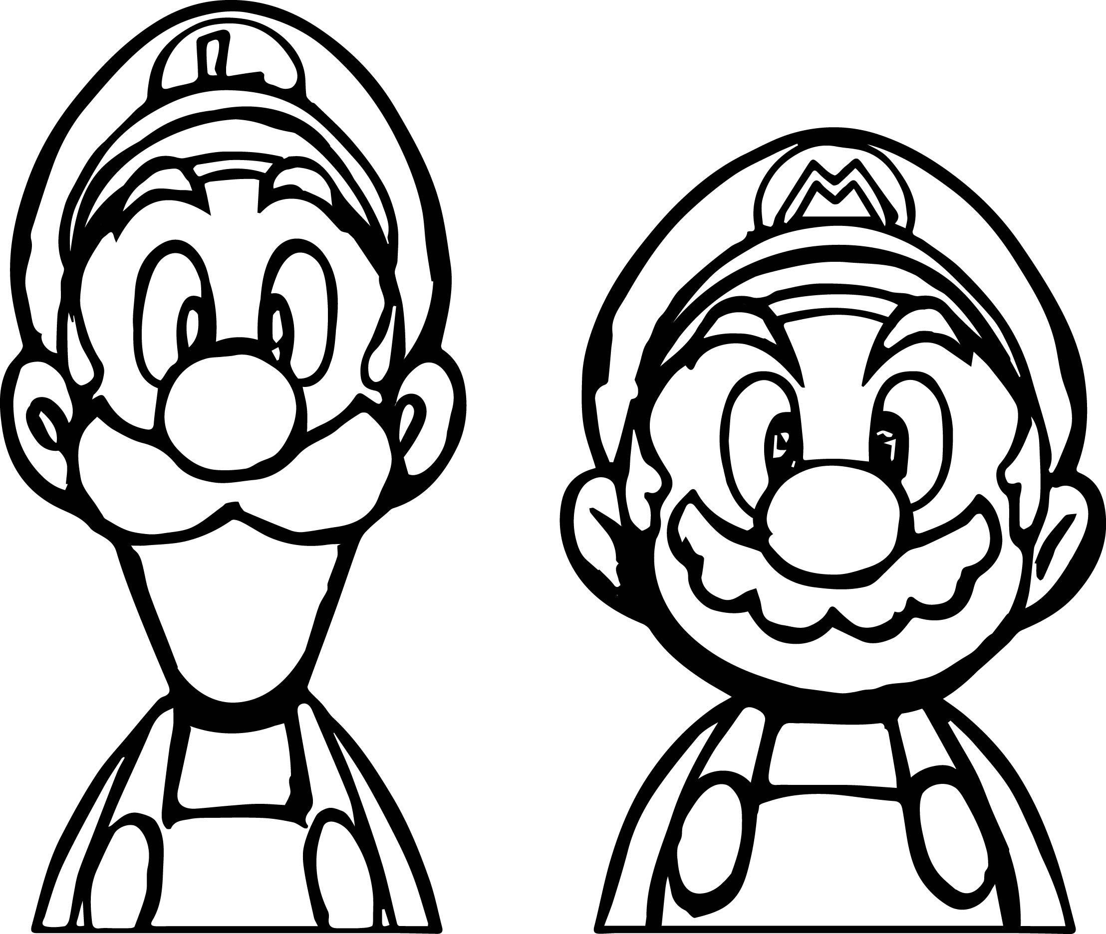 Super Mario And Luigi Coloring Page Wecoloringpage