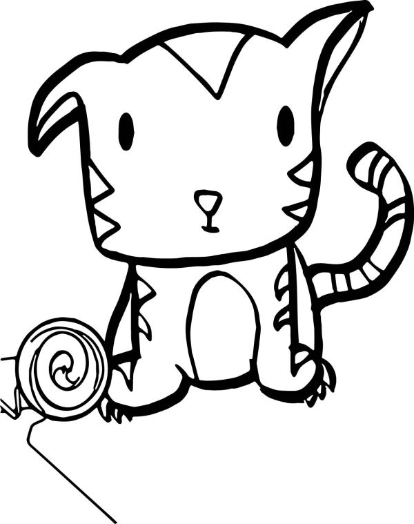 baby tiger coloring pages # 59