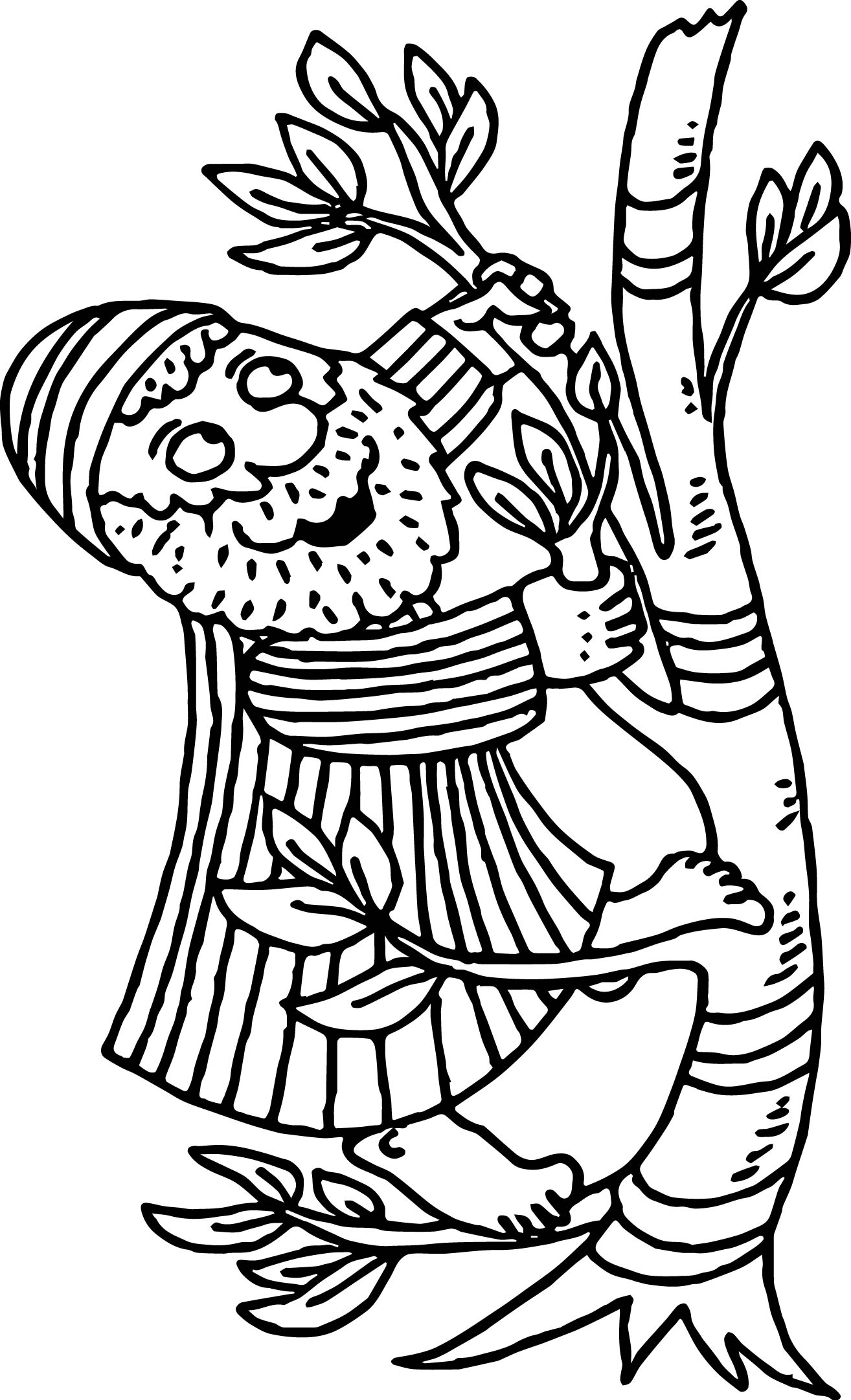 Coloring Page Zacchaeus - Free Coloring Page