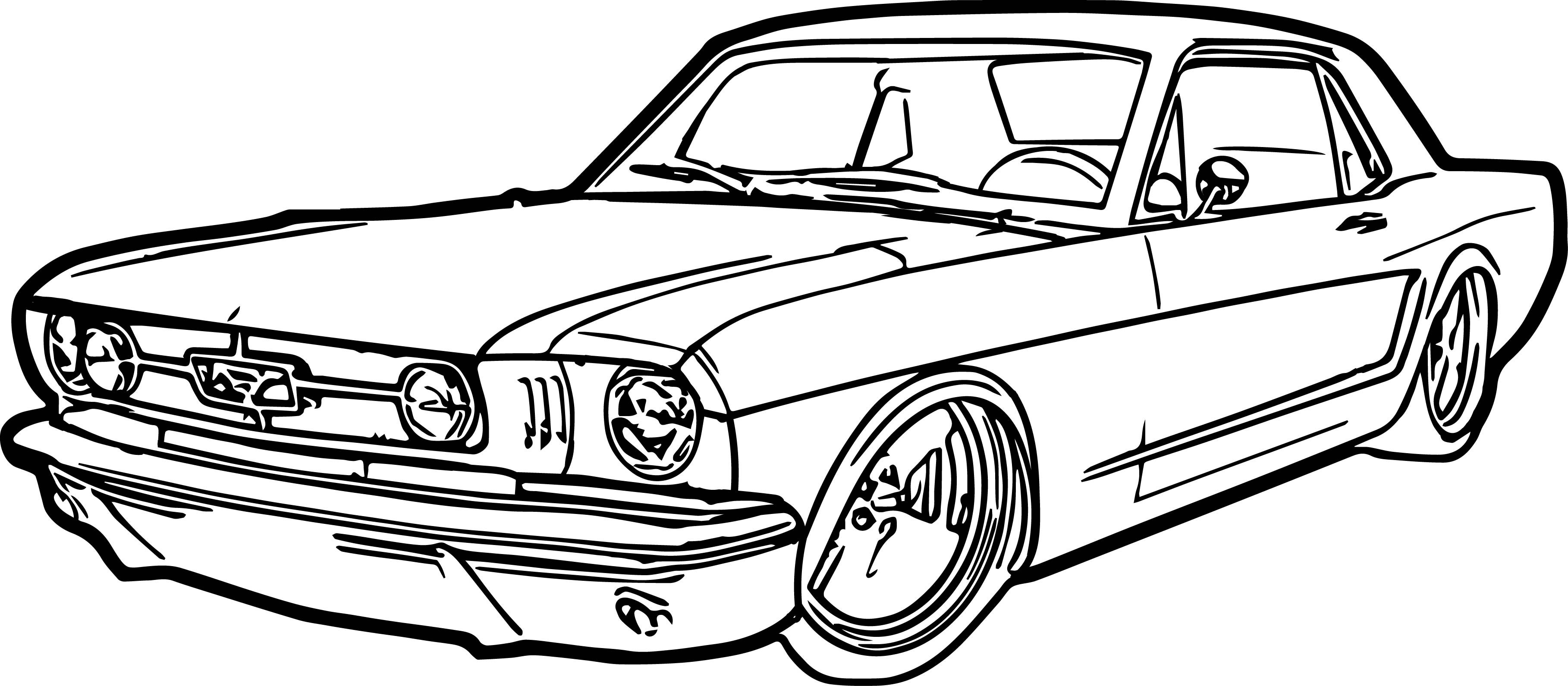 Ford Mustang Car Coloring Page Wecoloringpage