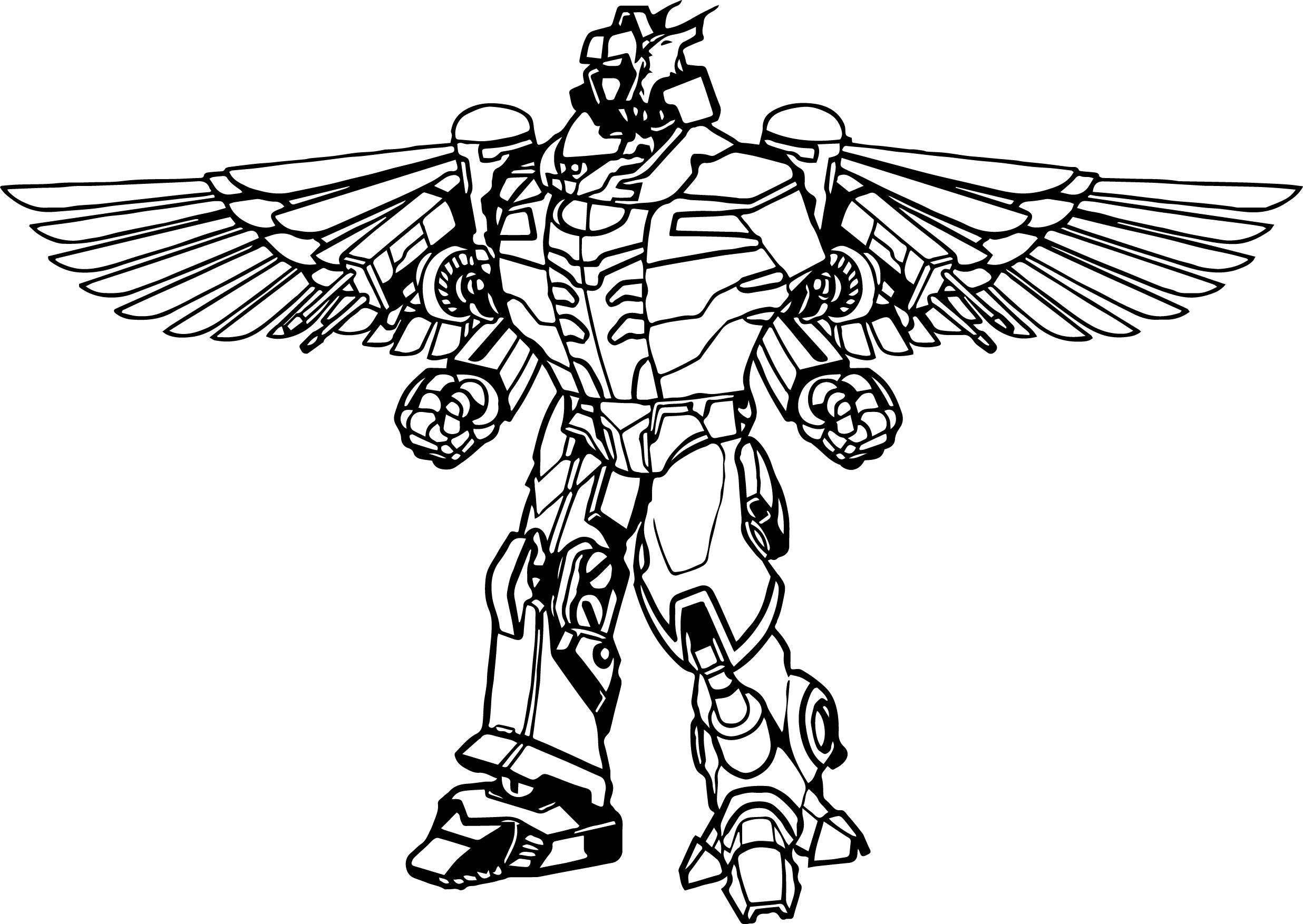 Power Rangers Robot Coloring Page Wecoloringpage