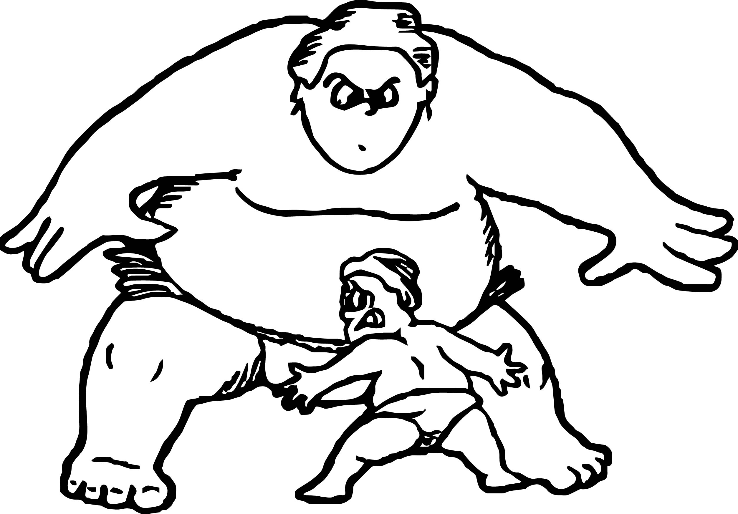 Sumo Wrestler Coloring Pages