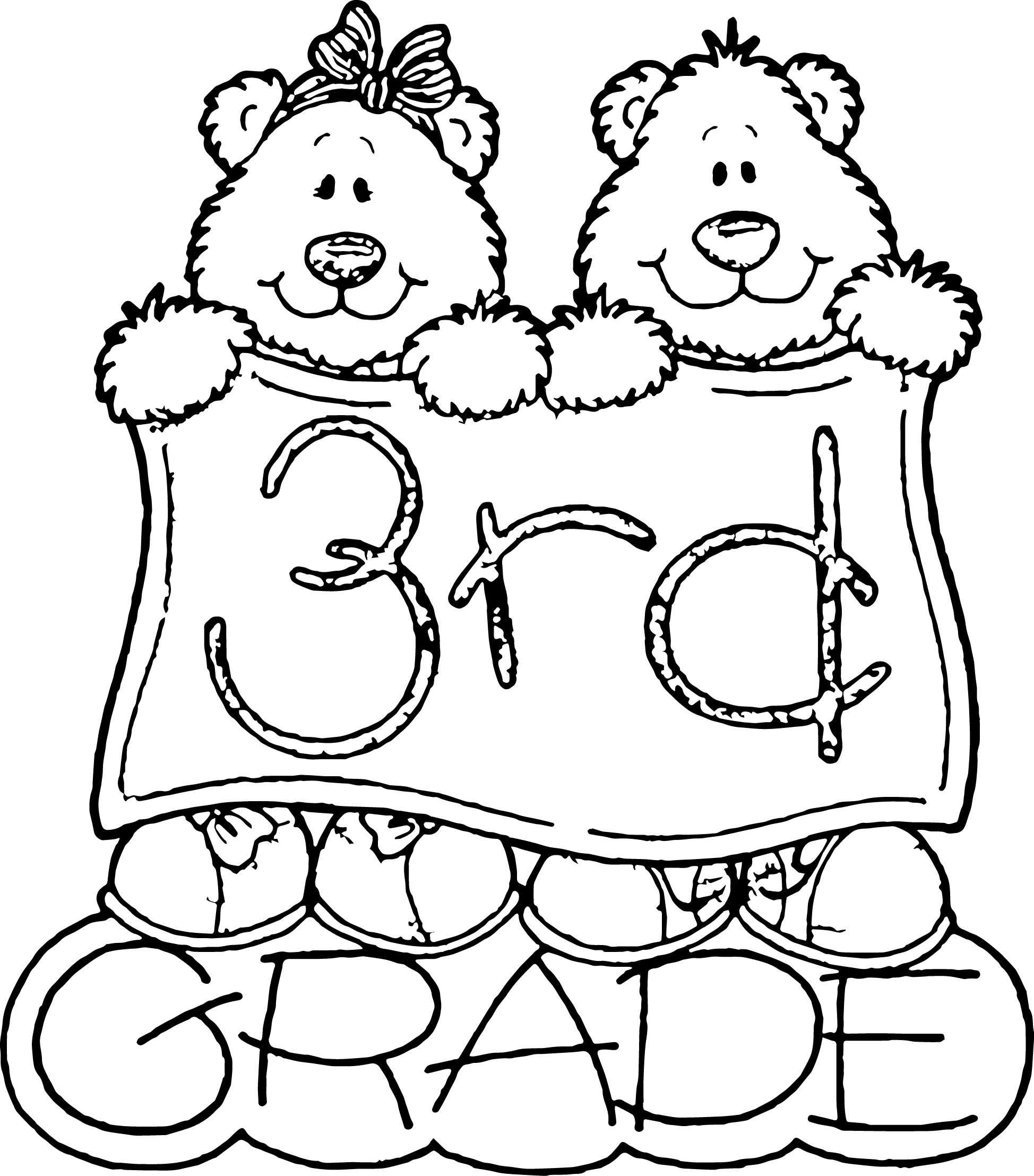 Third Grade Bears Coloring Page
