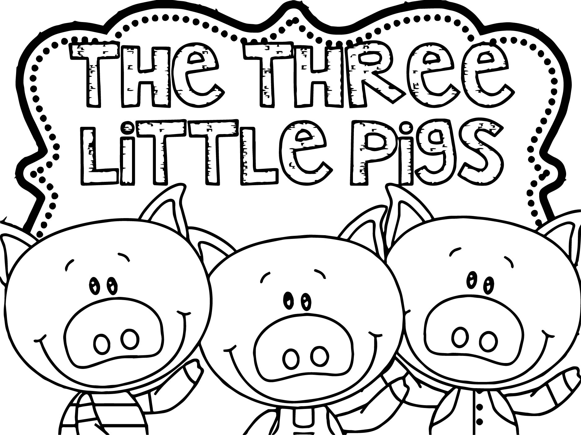 Three Little Pigs Coloring Page