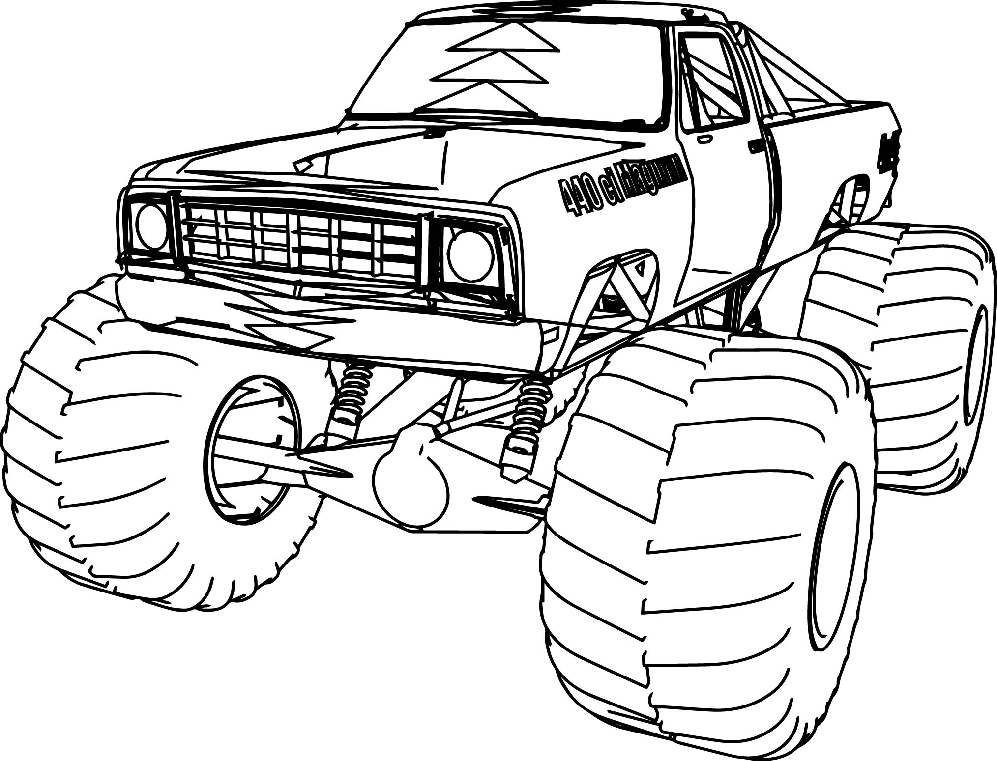 Dodge Monster Truck 4 4 Coloring Page