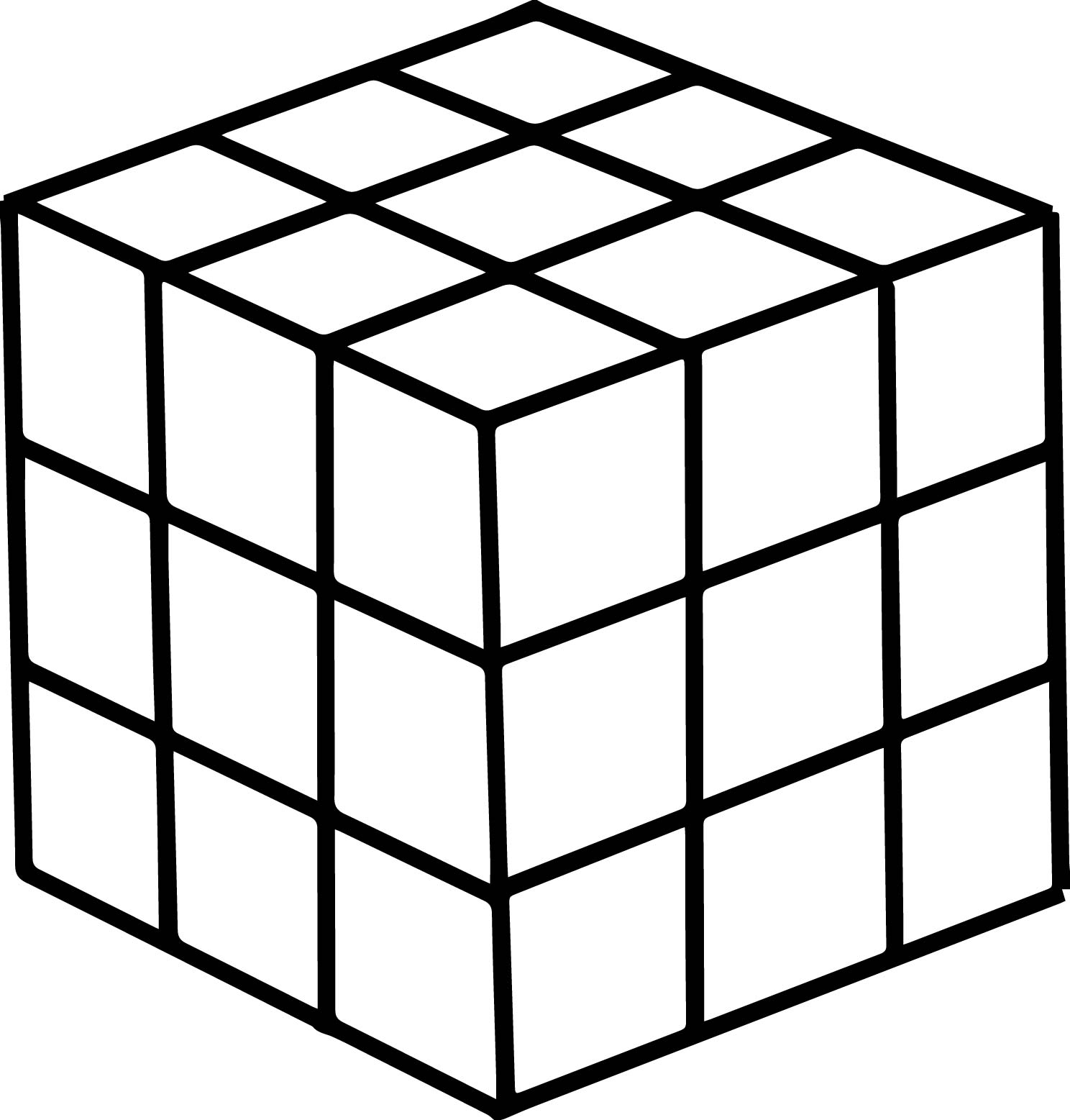 Rubix Cube Coloring Pages