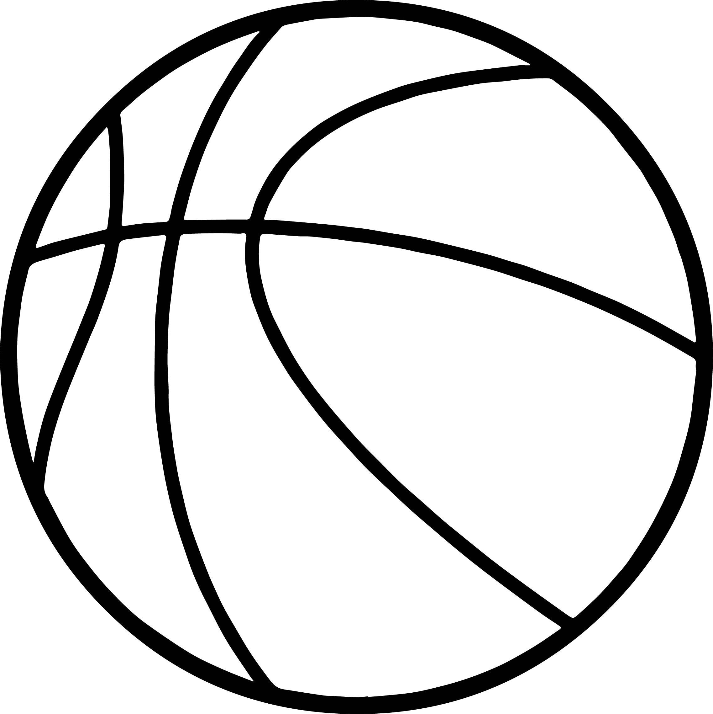 Basketball Ball Coloring Page