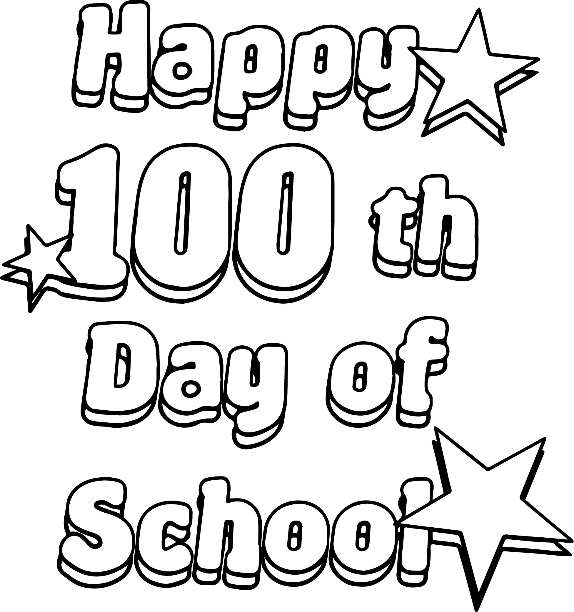 Happy 100 Th Days Of School Coloring Page