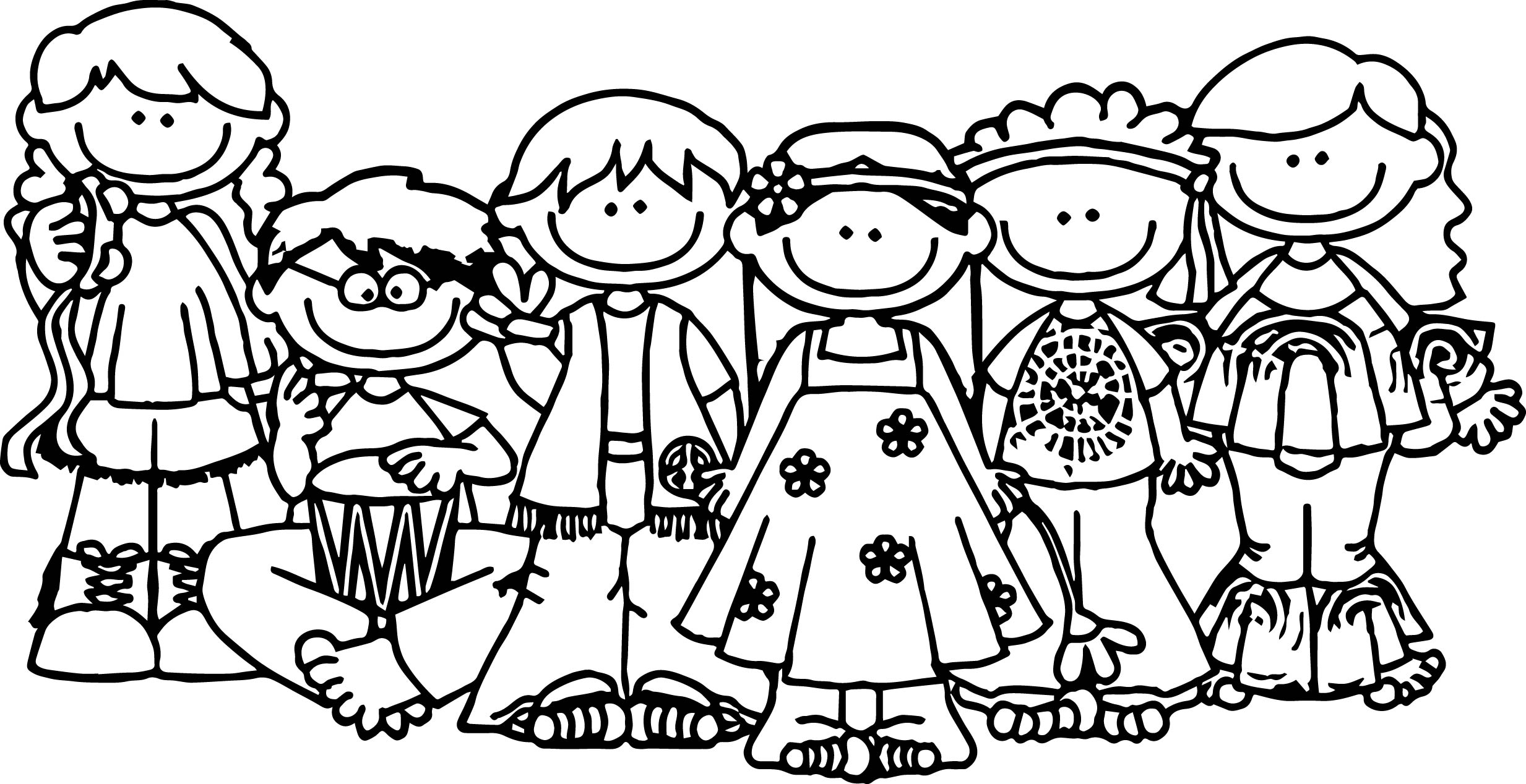 Group Of People Coloring Pages For Kids Gkid The
