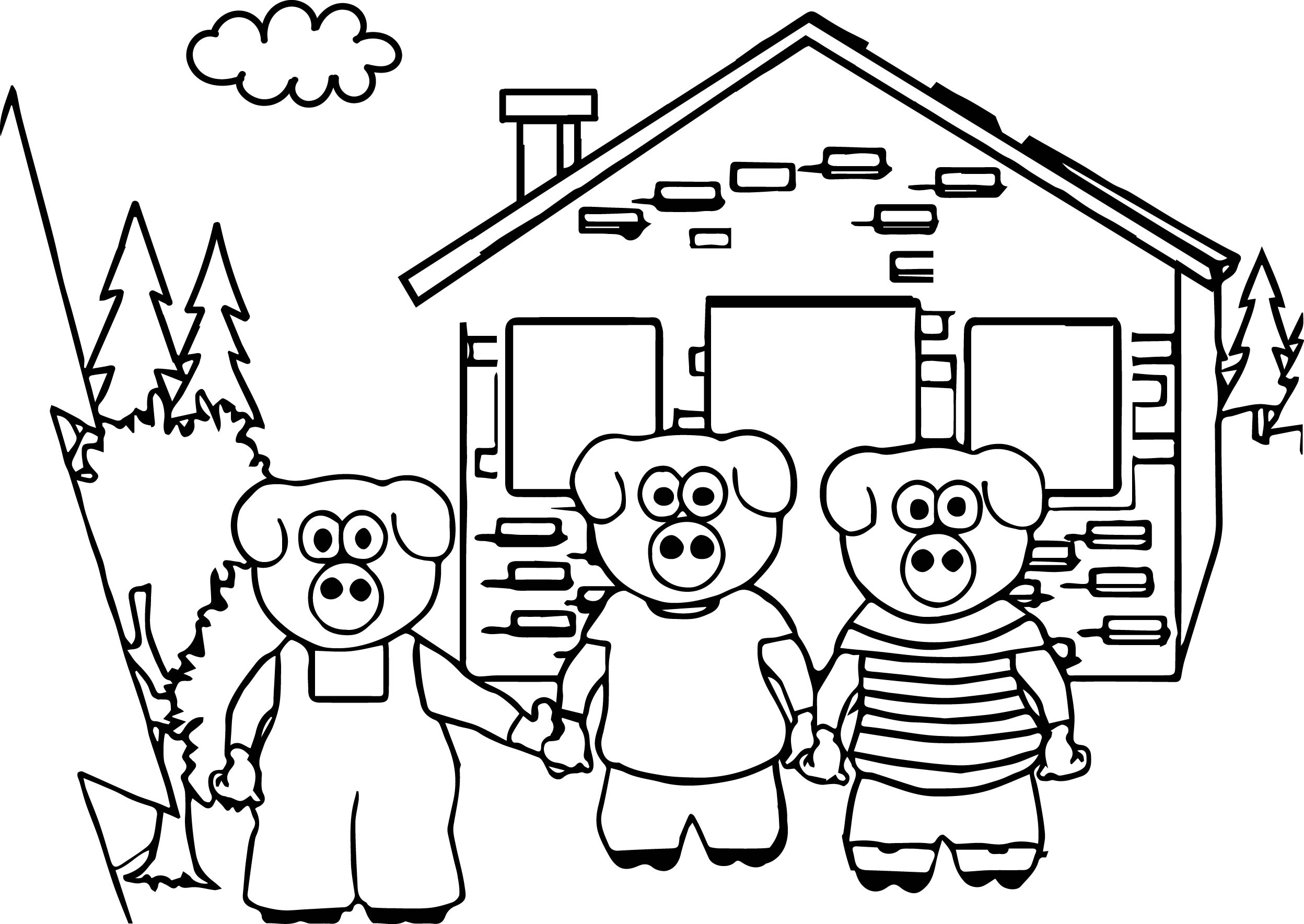 Keys To Literacy Three Little Pigs Coloring Page