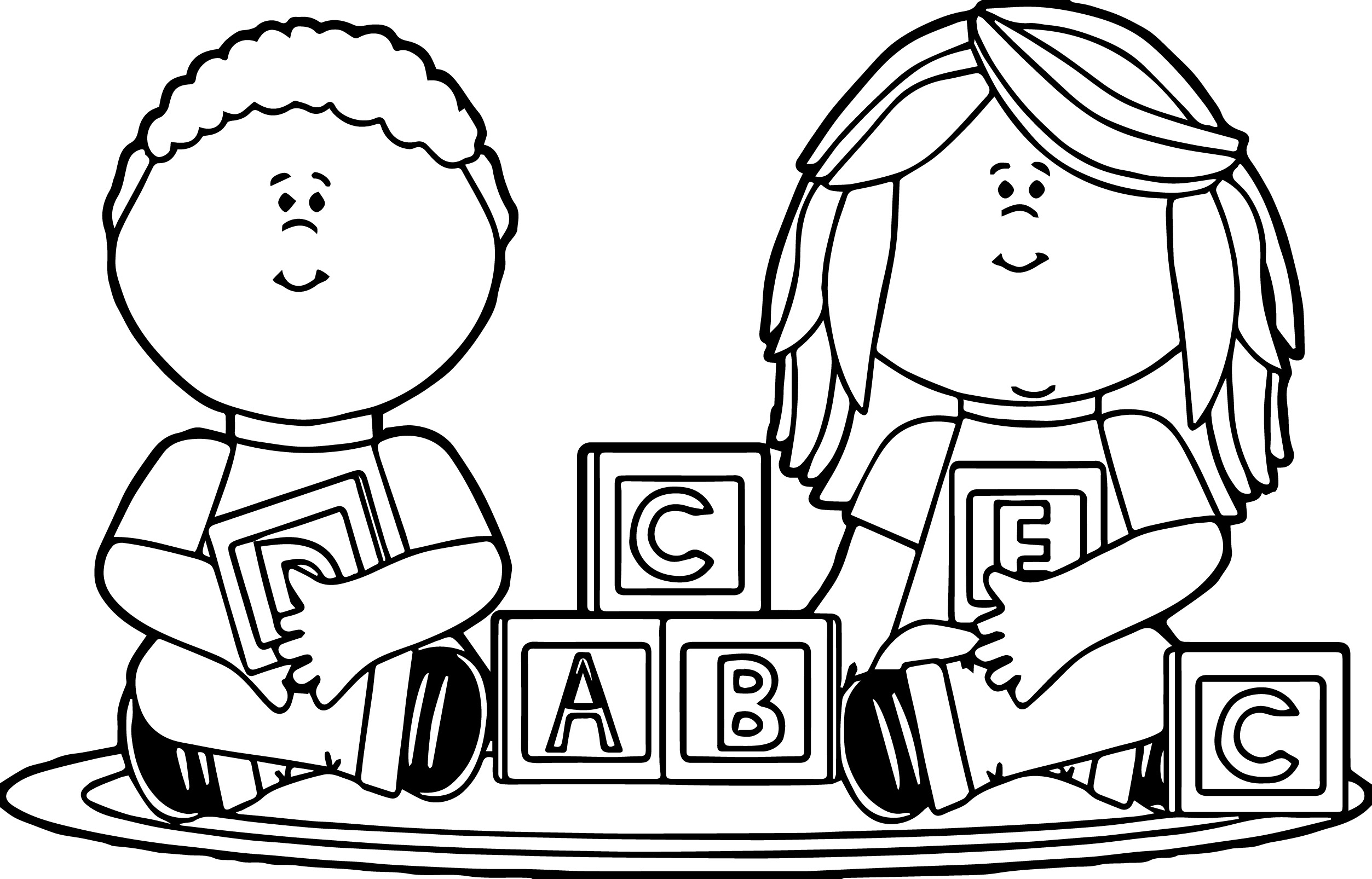 Kids Playing Coloring Pages Coloring Page