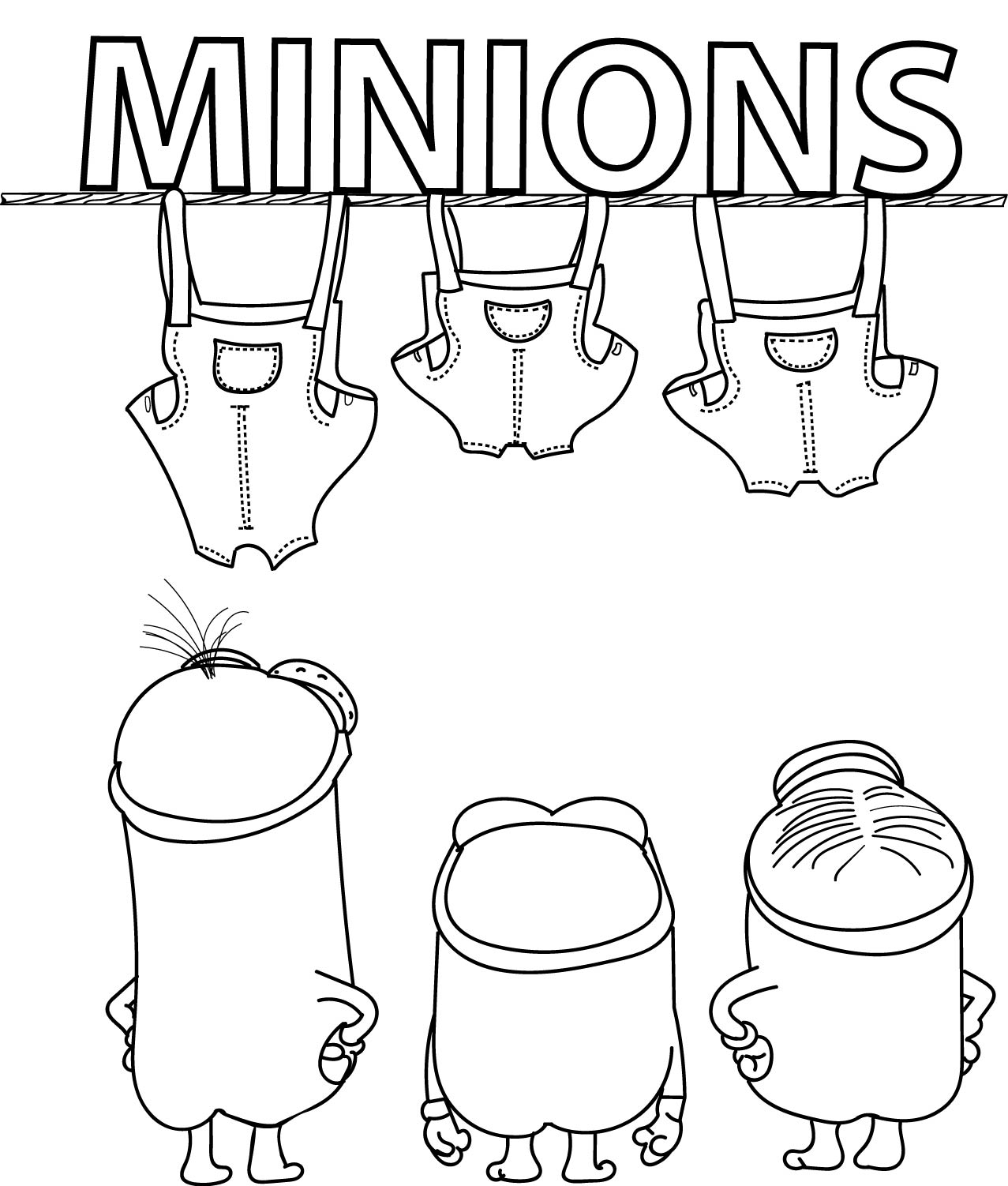 Minions Poster Coloring Page