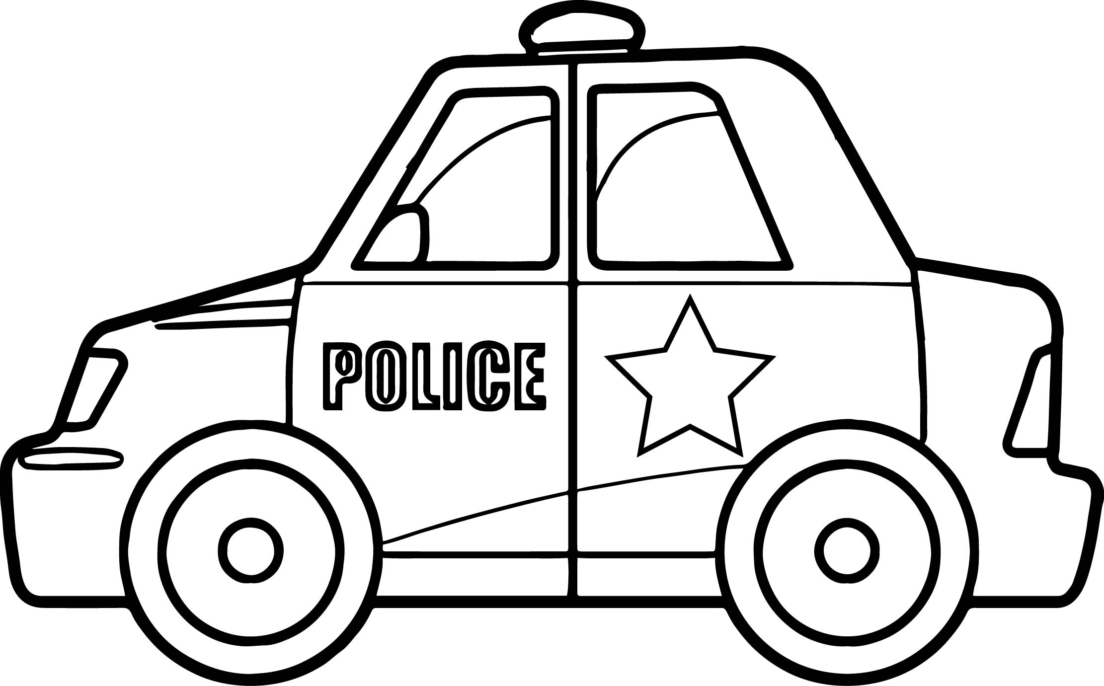 Super Police Car Coloring Page