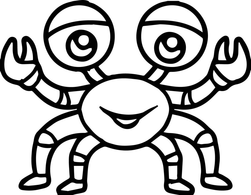 sea life crab cartoon coloring page  wecoloringpage